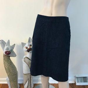 Gap Dark Indigo Denim Modest Straight Skirt 2